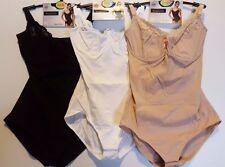 BHS Magic Cotton Body Shapewear Tummy Control Shaping Bodysuit.Black,White,Nude
