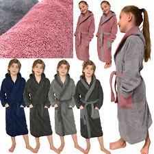 Kinder Frottee Bademantel Kapuze 100% Baumwolle für Mädchen Jungen Morgenmantel