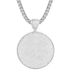 Custom Medallion Pendant Tennis Solitaire Necklace Simulated Diamonds Charm New