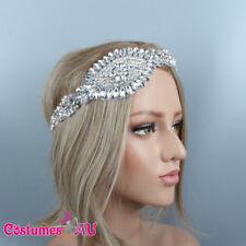 1920s Headband Rhinestone Bridal Great Gatsby 20s Flapper Headpiece Gangster