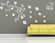 Wandtattoo wandfolie Blumenranke Schmetterlinge  Wallsticke Ranke Blumen wpf70