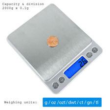 0.1Gram Precision Jewelry Kitchen Herb Electronic Digital Pocket Scale 2000g