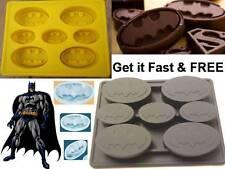 Batman Silicone Cake Crayon Chocolate Soap Ice Mold Mould Comic Black/Yellow Fun