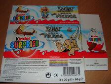 KINDER 3PACK TRIPACK 2S ASTERIX ET LES VIKINGS 2007 BE BELGIUM