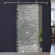 Glasschiebetür Digitaldruck auf Glas 1057-1-V1000 Schiebesystem Edelstahl