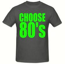 CHOOSE 80's T SHIRT, (GREEN LOGO) MEN'S T SHIRT,SM-2XL,FANCY DRESS 80's