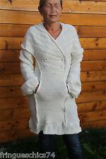 manteau robe laine blanc MC PLANET T 38 neuf étiquette HAUT DE GAMME val 258€