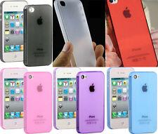 iPhone 4 4S coque / case / cover / étui semi rigide mi-transparente ultra 0.2mm