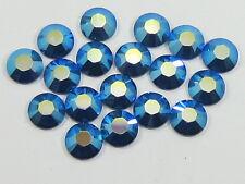 20ss CAPRI BLUE  AB HOTFIX swarovski rhinestones 72pcs