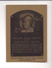 WILLIAM JUDY JOHNSON, Hilldale (Negro League) Hall of Fame METALLIC Plaque-card