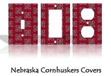 Nebraska Cornhuskers Light Switch Covers Football NCAA Home Decor Outlet