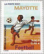 Mayotte 2001 99 149 SOCCER at Beach sulla spiaggia CALCIO FOOTBALL BAMBINI MNH