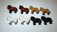 2 MINI Peruvian Ceramic Horses Animals Earring Beads DIY Charm