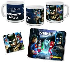 Personalised Lego Batman Mug with Coaster & Placemat Options