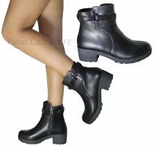Scarpe Stivali Stivaletti Biker Boots donna pitonati fibbia strass  ART-8691