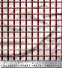 Soimoi Fabric Window Pane Check Print Sewing Fabric Meter-CH-60C
