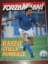 FORZA MILAN 1990/7-8 ITALIA 90 FRANCO BARESI NICHETTI