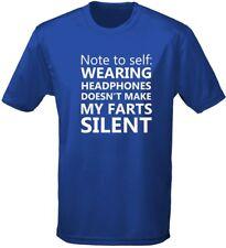 Nota per me stessa Cuffie non fare Puzzette silenziose T-shirt da uomo 10 colori (s-3xl)