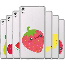 dessana Süße Früchte TPU Silikon Schutz Hülle Case Handy Tasche Cover für Sony