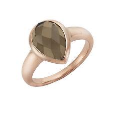 Jamelli Ring 925/- Sterling Silber Rauchquarz braun Damen Glänzend NEU