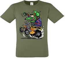 T Shirt olive Hot Rod US Car & `50 Style Emotiv Model Green Monster