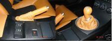 Si Adatta Nissan 350Z 2x Ghette SET NUOVO IN PELLE ARANCIONE 2002-2009