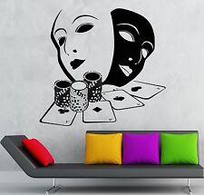 Wall Stickers Cards Poker Gambling Casino Masks Art Mural Vinyl Decal (ig1915)