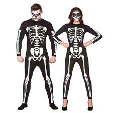 Adults Skeleton Jumpsuit Costume for Living Dead Halloween Pirates Fancy Dress