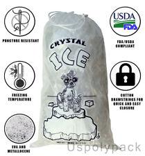 8 lb / 10 lb / 20 lb Ice Bags with Drawstring