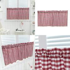Handmade Check Lace Cotton Cafe Curtain, Kitchen Curtain Valances Window Curtain