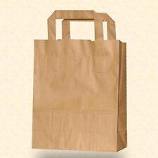 50 Papiertragetaschen braun 22x11x28 cm Papiertüte Papiertasche Tüte 5402