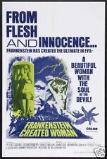 Frankenstein created woman vintage movie poster print