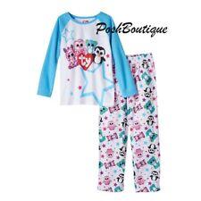 NWT TY Beanie Boo Plush Pajamas PJ Girls Pinky Owl Leopard Penguin 4 6 8 10 12
