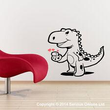 Bambino Dinosauro con uovo SCUOLA MATERNA muro adesivo decalcomania Jurassic
