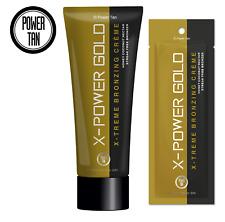 Power Tan X-Power Gold Bronzer Tanning Sunbed Lotion Accelerator Tube or Sachet