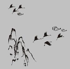 MOUNTAIN CLOUD BIRDS Oriental Wall Stickers Decal Removable Art Vinyl Decor DIY