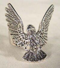FLYING EAGLE WING BIKER RING BR107 HEAVY silver NEW mens women bird  wings fly