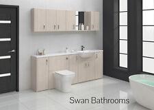 Blanc salle de bains meubles équipée Avola 2100mm avec les unités de mur