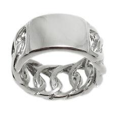 Stainless Steel Interlocking Link Band Ring Size 6-9 FREE ENGRAVING