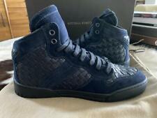 Bottega Veneta Men's Navy blue leather Speedster hightop sneaker shoe 308886