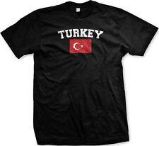 Turkey Country Flag Turkish Türkiye Pride Football Soccer Mens T-shirt