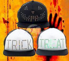 New Halloween Light up LED Pumpkin or Trick Treat Cap Trucker Hat