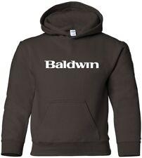 BALDWIN Hooded Sweatshirt PIANO MUSIC Keyboard Hoodie 80s Pop HOODY