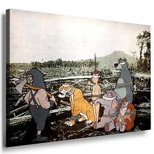 Bild Leinwand mit Rahmen Banksy Werke Mogli Wandbild Leinwandbild Kunstdruck 1-m