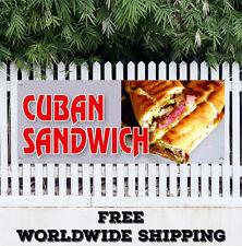 CUBAN SANDWICH Advertising Vinyl Banner Flag Sign Cuba Hot Fresh Homemade Lunch