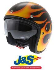 HJC FG-70S Aries Open Face Motorcycle Helmet Flames Cruiser Harley Summer J&S