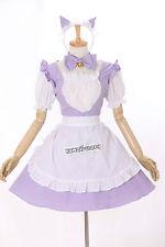 M-3150 S/M/L/XL/XXL lila Purple Maid uniforme Lolita dress cosplay disfraz Costume