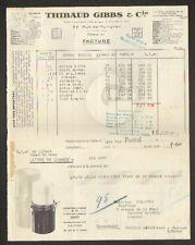 """PARIS (VIII°) PRODUITS COSMETIQUES / SAVON à BARBE """"THIBAUD GIBBS & Cie"""" en 1948"""