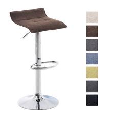 Tabouret bar MADISON chaise tissu trompette chromé comptoir repose pied pivotant