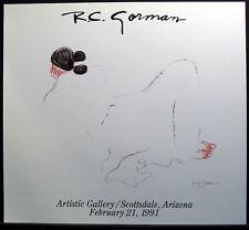 "R C Gorman ""Jonie"" Hand Signed Art Show Poster Mint Condition 1991 MAKE OFFER"